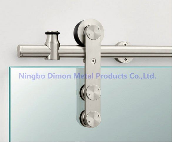 Quincaillerie de porte en acier inoxydable Dimon quincaillerie de porte coulissante en verre roue suspendue DM-SDG de quincaillerie de porte coulissante de haute qualité 7002