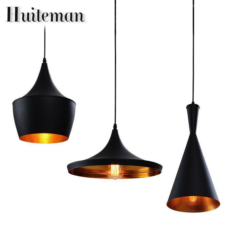 Huiteman Vintage Pendentif Luminaire Noir Éclairage Loft D'autres Chambres Cuisine Suspension Industrielle Led Plafond Pendentif Lampes