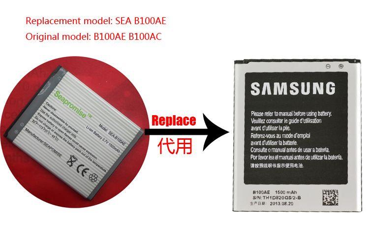 Livraison gratuite au détail B100AE batterie pour Galaxy Ace 4 Duos SM-G313H, GT-S7898, GT-S7392, S7390, S7272, S7568, s7278u, SM-Z130H, SM-G318H