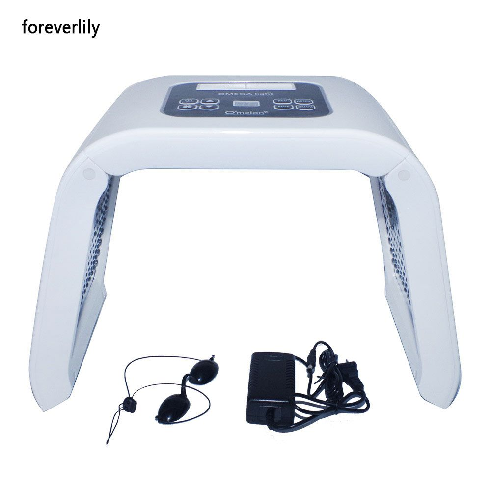 Salon Therapy Light Portable Low Level LED Therapy Skin Rejuvenation PDT 4 Color Light Anti-aging Wrinkle Removal Beauty Device