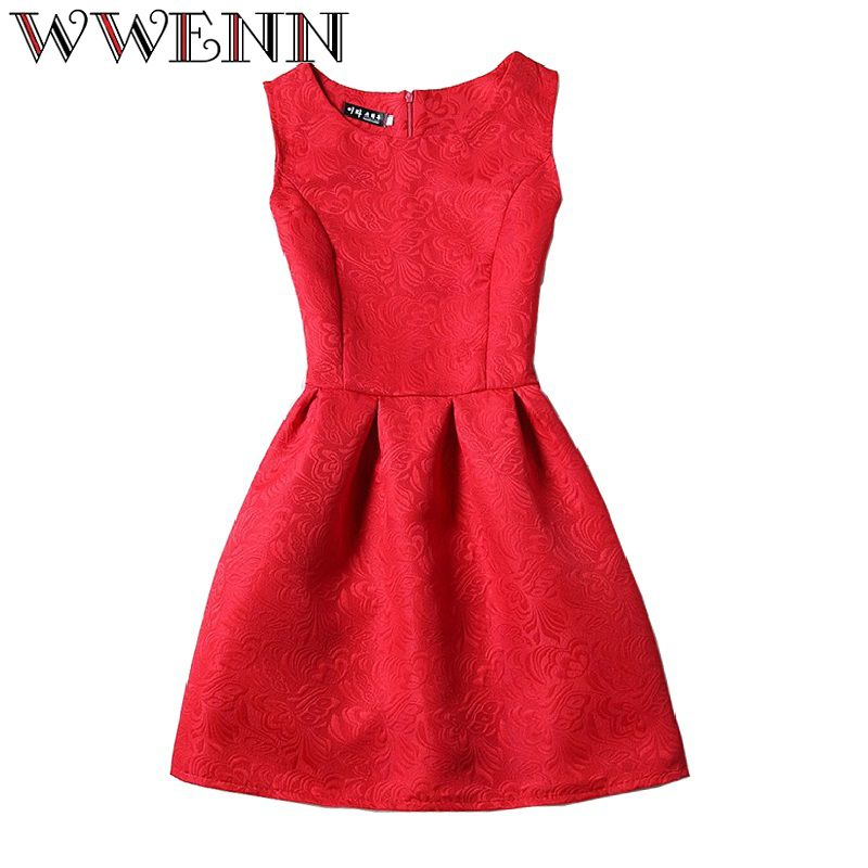 Vestidos De Festa été robe femmes robe femme ete 2018 mode sexy o-cou soirée Vintage Tank ukraine rouge noir robe