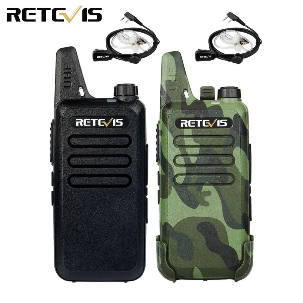 2pcs Mini Walkie Talkie Retevis RT22 2W UHF 400-470MHz CTCSS/DCS TOT VOX Scan Squelch Two Way Radio Ham Hf Transceiver A9121A