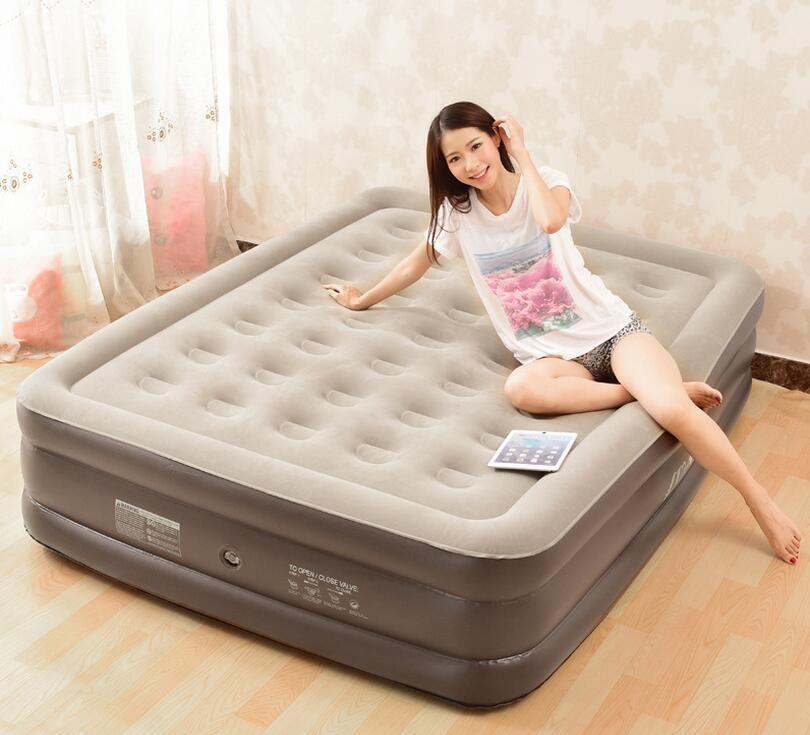 Zwei personen extra große und breite aufblasbaren sofa betten, schnelle aufgeblasen komfort erwachsene schlafen bettwäsche