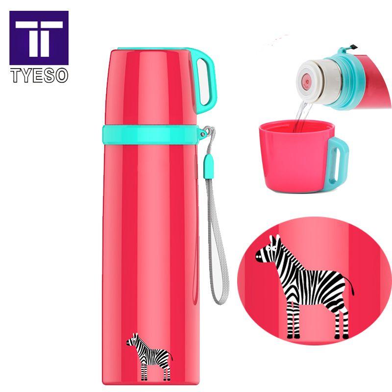En acier inoxydable thermo tasse Portable voyage thermos thermos bouteille belle zèbre termo tasse qualité termos tasse avec couvercle tasse