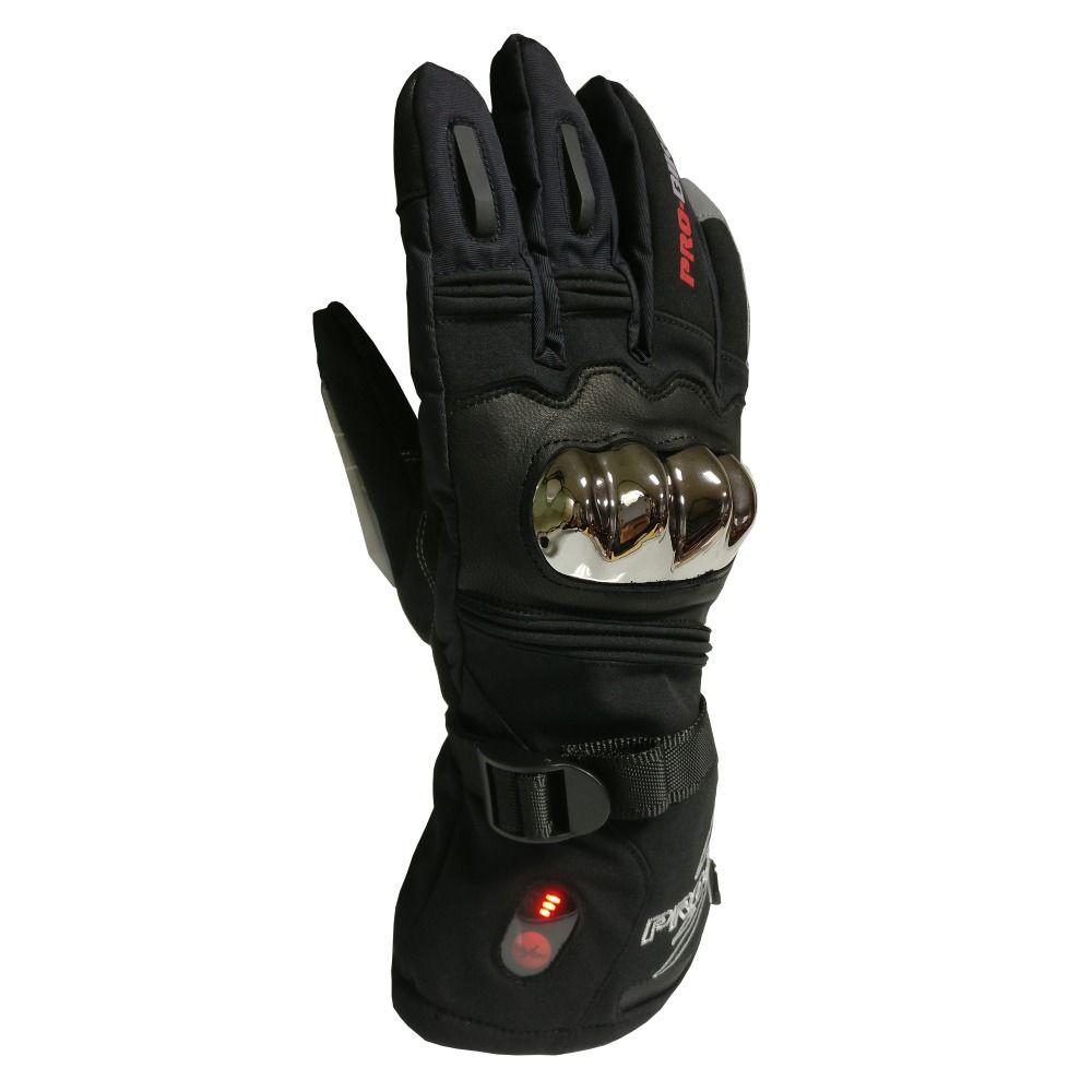 Motorrad Heizung Handschuhe 3 Ebene Temperatur Control Beheizte Handschuhe 5 finger und Hand Zurück Erwärmung 40-65 C Handschuhe männer Frauen Verwenden