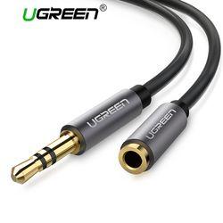 Ugreen Jack 3.5mm Audio Extension Câble pour Huawei P20 lite Stéréo 3.5mm Jack Aux Câble pour Casque Xiaomi redmi 5 plus PC