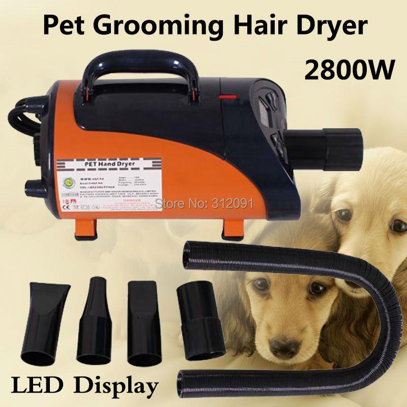 (Schiff von EU) 2800 W High Power Pet Haar Trockner Gebläse Hund Hundesalon Trockner Gebläse Heizung, hundesalon Trockner + 3 Düsen