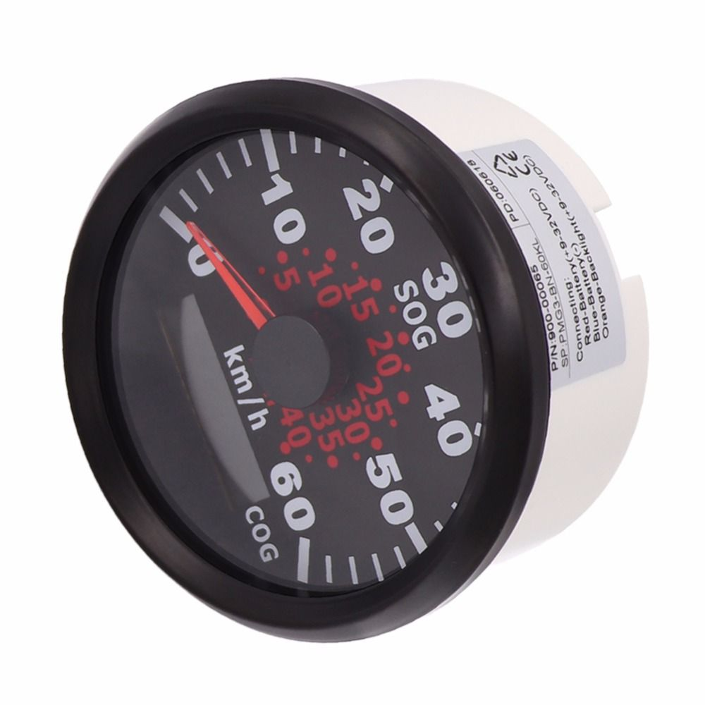 85 mm Marine Boat GPS Speedometer Meter 60 km/h 120Km/h Speed Gauge With Backlight For Motorcycle Auto Truck Boat 9~32V