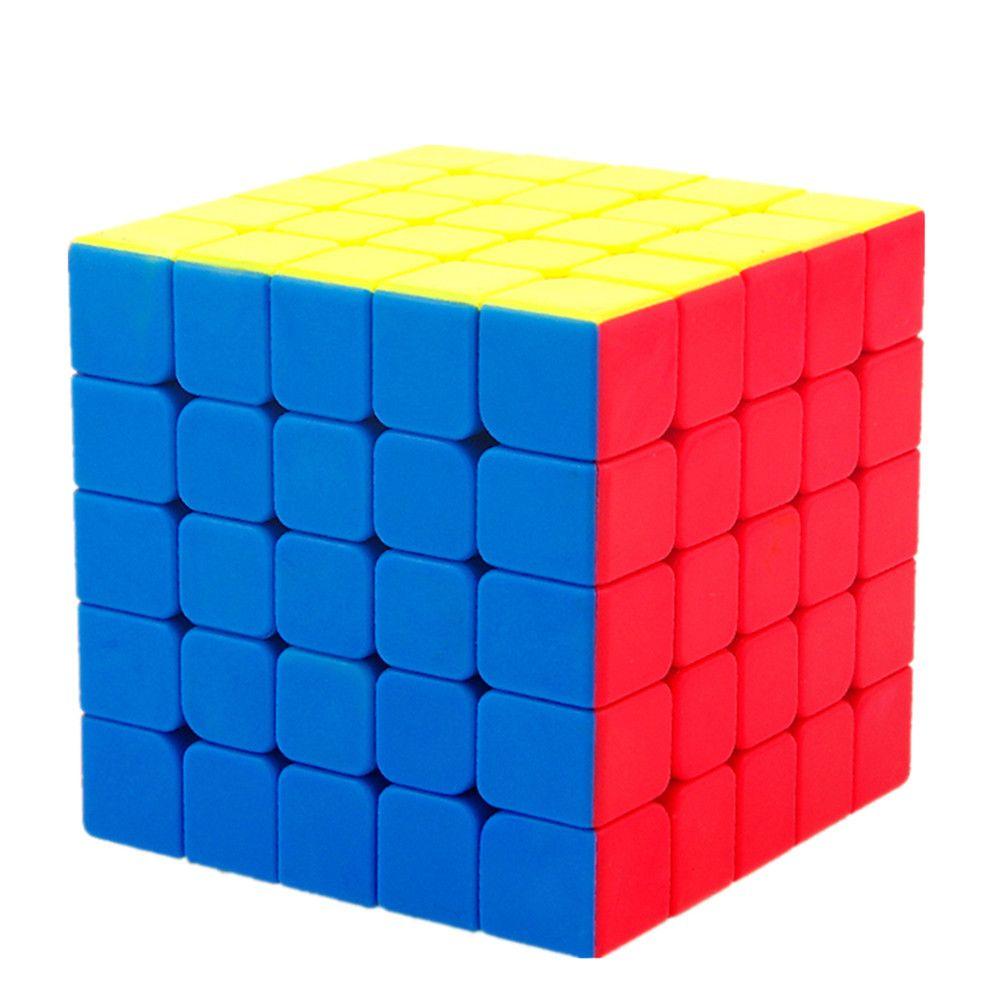 MoYu MOFANGJIAOSHI 5x5x5 Autocollant Vitesse Cube puzzle Cube magique Jouets