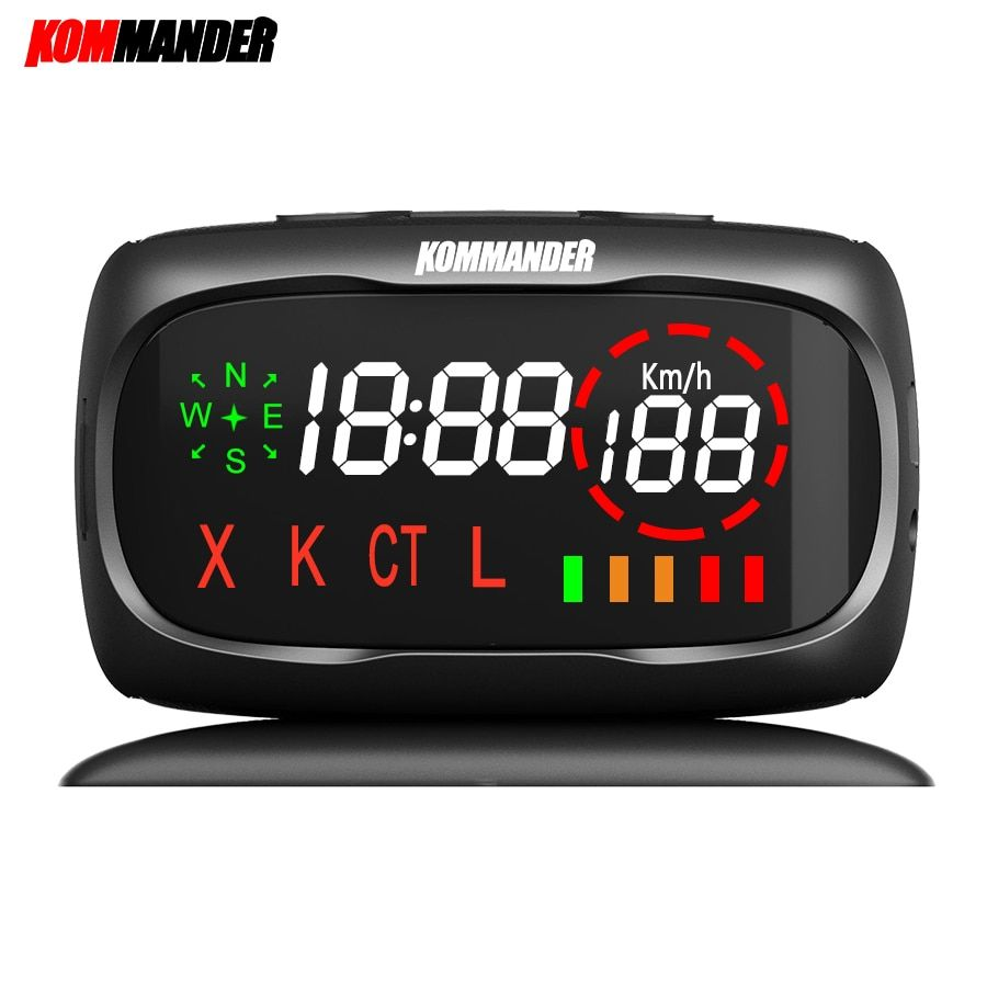 kommander car radar Detector Anti-radar Anti Police Speed Camera with GPS 2 in 1 for Russian can Detection X K CT L Bands