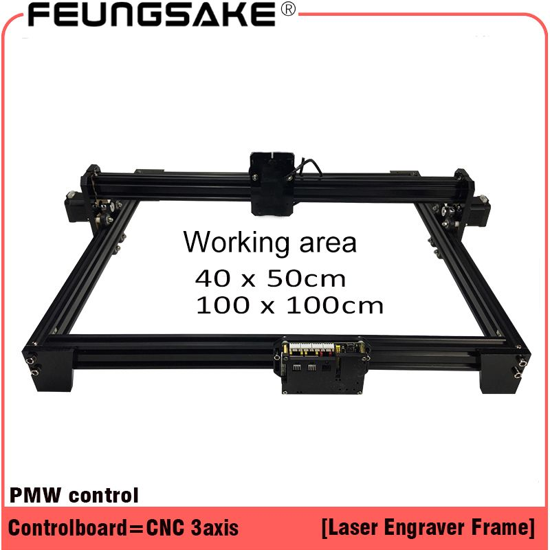 laser machine frame,DIY Mini Laser Engraving Machine for connect 15w laser 5500mw 2500mw 100*100,40*50cm Engraving Area with PMW