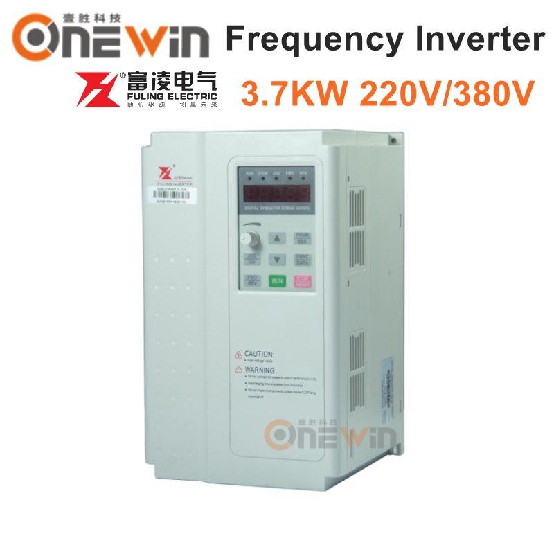 Fuling inverter 3.7KW 220 v 380 v frequenz inverter VFD fahrer für cnc spindel motor