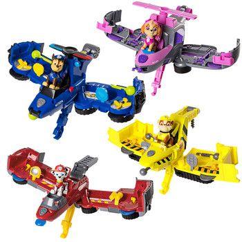 С принтом из мультфильма «Щенячий патруль собака флип Fly автомобиля игрушки могут получать удовольствие от этой 2-в-1 автомобиля преобразова...