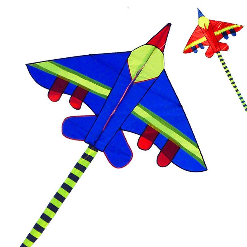 Livraison gratuite haute qualité 3 m long avion avion cerf-volant jouets volants en nylon ripstop combattant cerf-volant avec poignée ligne wei cerf-volant avion elf
