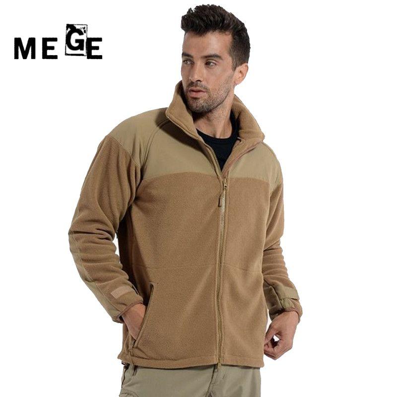 MEGE Hommes Vestes Automne Hiver Tactique Polaire Thermique Manteau, hommes Veste de Chasse, militaire Armée Formation Sportswear