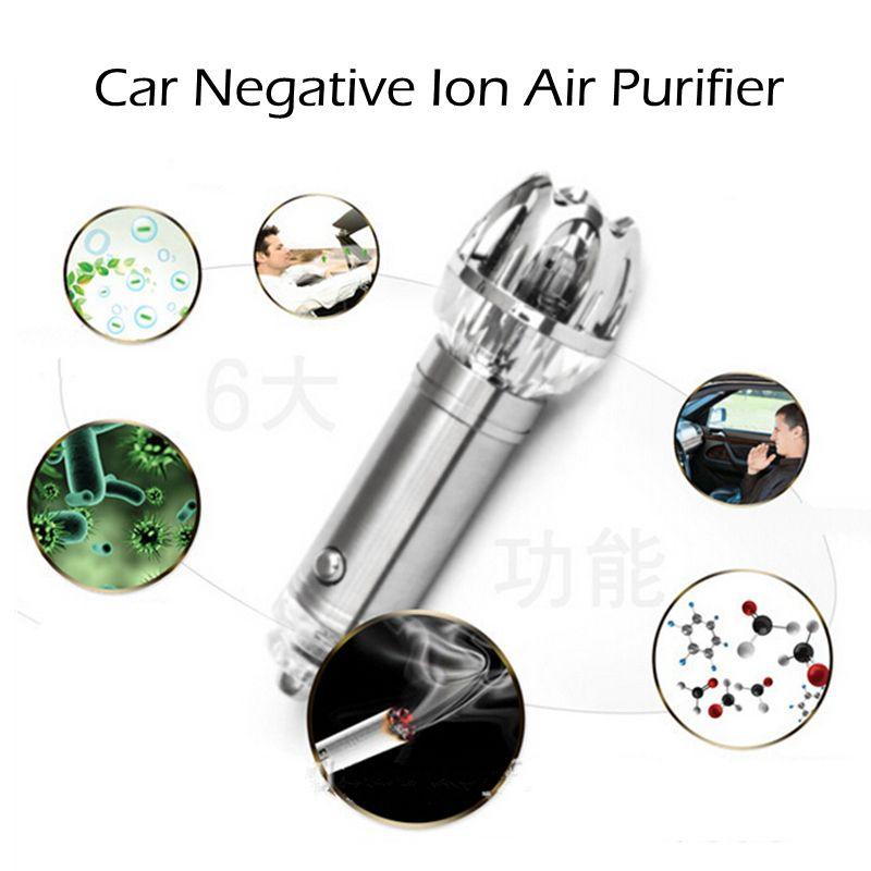 12V Mini Car Negative Ion Air Purifier Anion Air Cleaner Washer Eliminator Freshener Auto Minus-ion Air Purification Apparatus