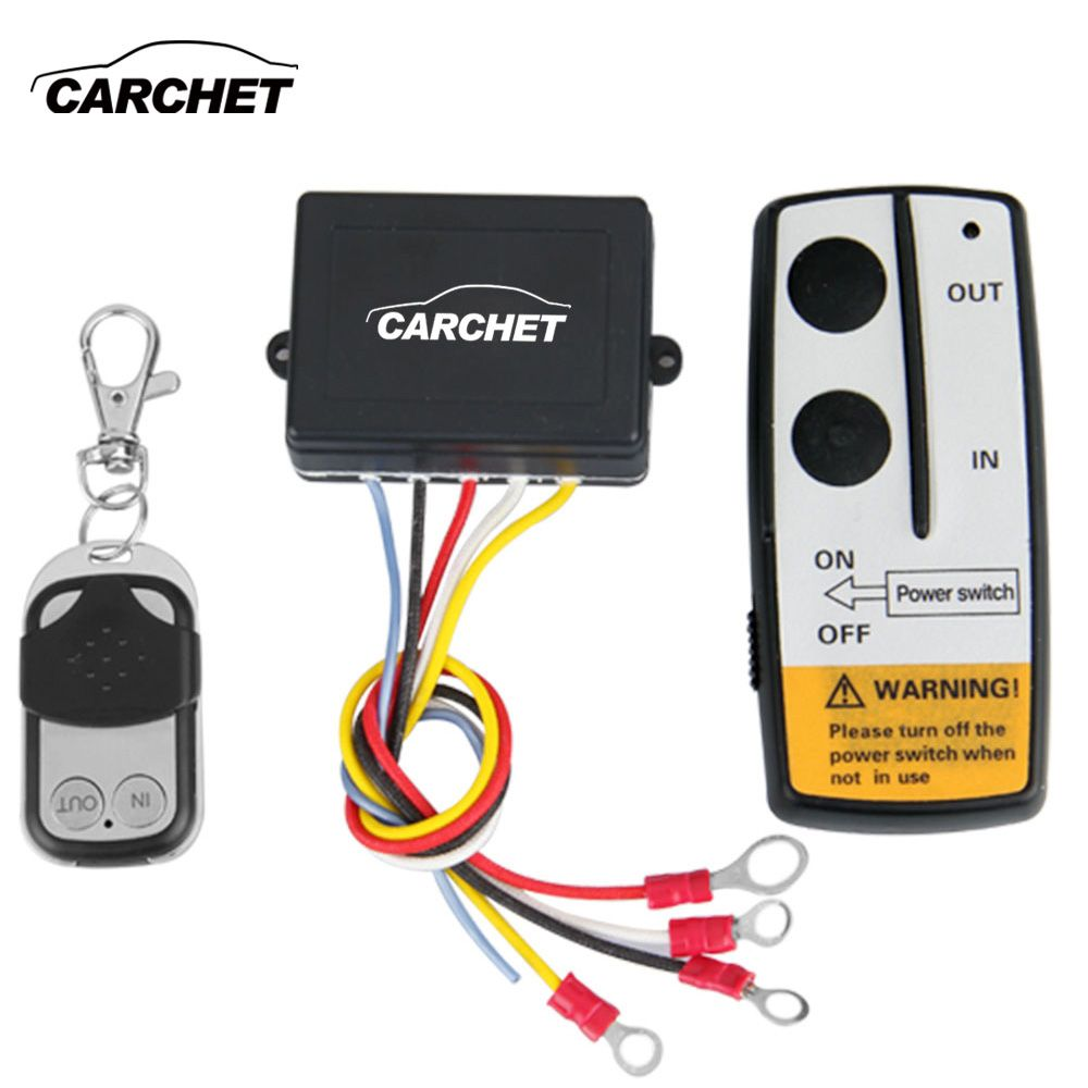 CARCHET Winch 12V 12 Volt Wireless Remote Control Kit for Jeep Truck ATV Winch WINCH Dual Remote High Quality Switch Handset