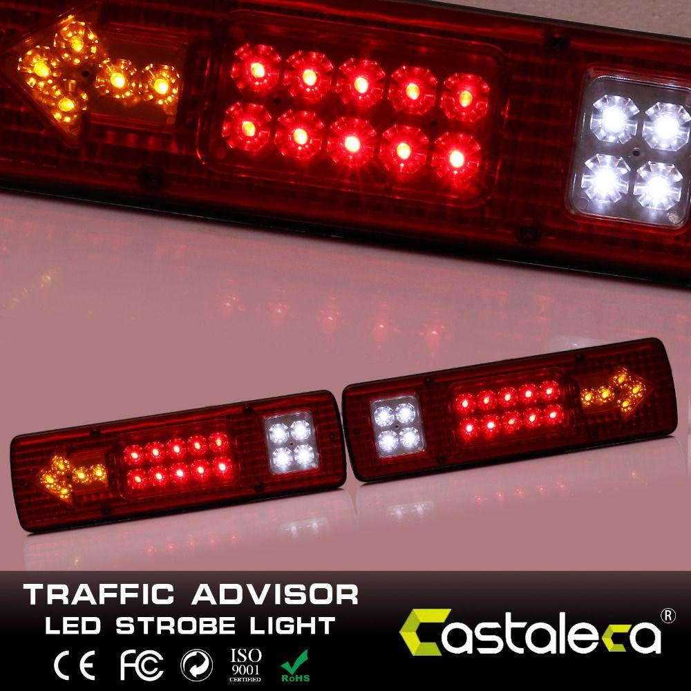 1 Par 12 V 19 LED Tail Lights, gire Detener Inversa Lámpara Indicadora, Remolque Van Bus camión Caravana de Camiones de Remolque Del Coche Accesorios Del Coche