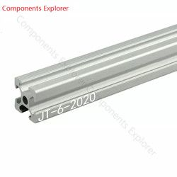 Arbitrary Cutting 1000mm 2020 Aluminum Extrusion Profile,Silvery Color.