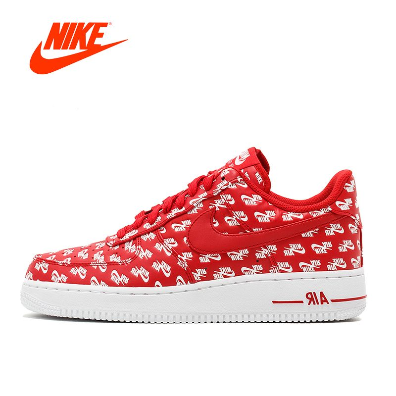 Original New Arrival Authentic Nike Nike Air Force 1 AF1 07 QS Men's Breathable Skateboard Sneakers Good Quality AH8462-600