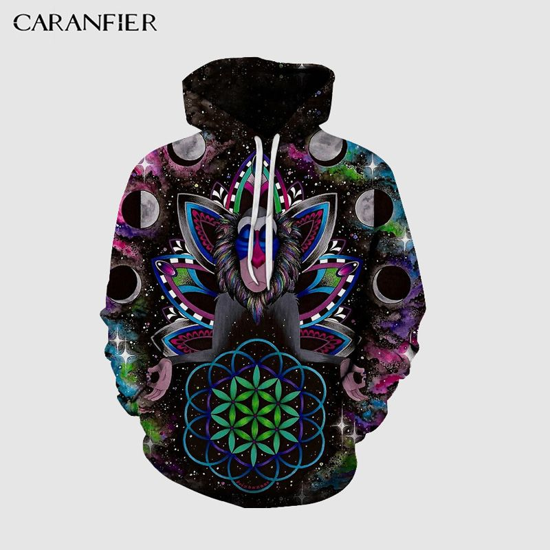Mens Hooded 3DPrint Pullover Autumn Male Tracksuits Hoodie Male Casual Loose Cap Sweatshirt Couple Tops Sudaderas Hombre