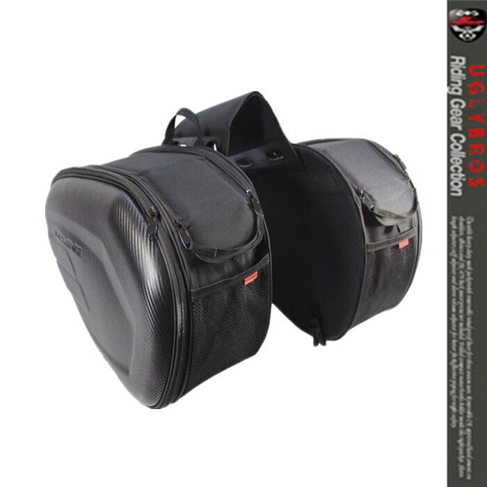 Free Shipping wholesale retail Sa212 Saddle Bag / Motorcycle <font><b>Side</b></font> Helmet Riding Travel Bags + Rain Cover One Pair