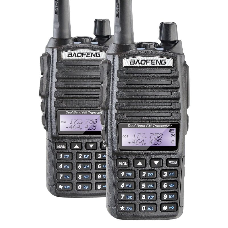 Free Shipping 2PCS Baofeng UV-82 Dual Band Walkie Talkie Amateur Radio Pofung uv 82 Ham Radio Free Double PTT Headset