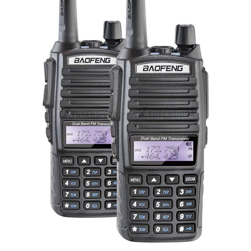 Free Shipping 2PCS Baofeng UV-82 Dual Band Walkie Talkie Amateur Radio Pofung uv 82 Ham Radio Free Double PTT Headset