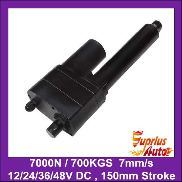 Schwere Last 7000N = 700KGS = 1540LBS, 6 inch = 150mm hublänge 12 V oder 24 V DC schwere linearantrieb