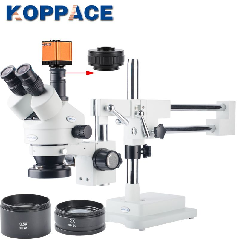 16MP Full HD 1080P 60FPS HDMI Electron Industry Digital Microscope Camera Mobile phone repair 3.5X-90X Stereoscopic Microscope