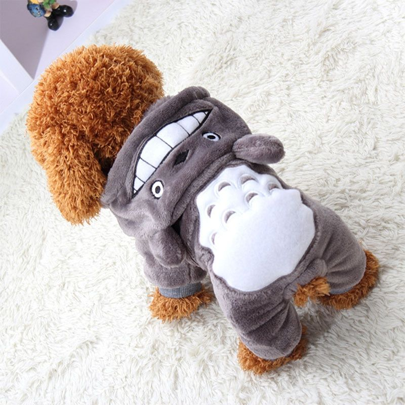 Warm Pet Dog Clothes For Small Dogs Fleece Chihuahua Clothes Pet Outfit Coat Cartoon Clothing Winter Dog Clothes XS-XXL 29S1