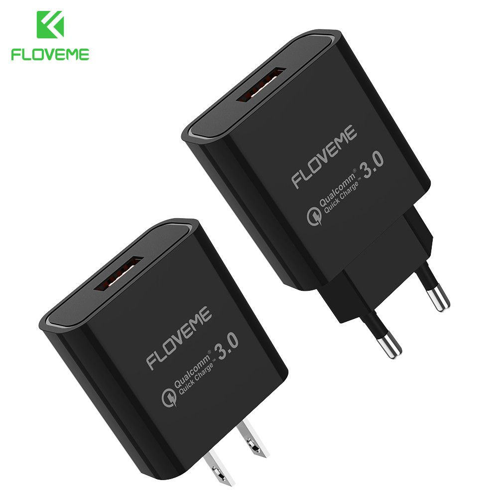 FLOVEME Universal QC 3.0 Quick Charger USB Travel Wall Charger Adapter Portable EU US Plug Fast efficiency Smart Phone Charger