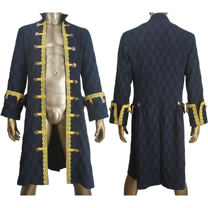 Pirates of the caribbean: Dead Men Tell No Tales Captain Hector Barbossa cosplay jacket coat halloween costume potc outfit toys