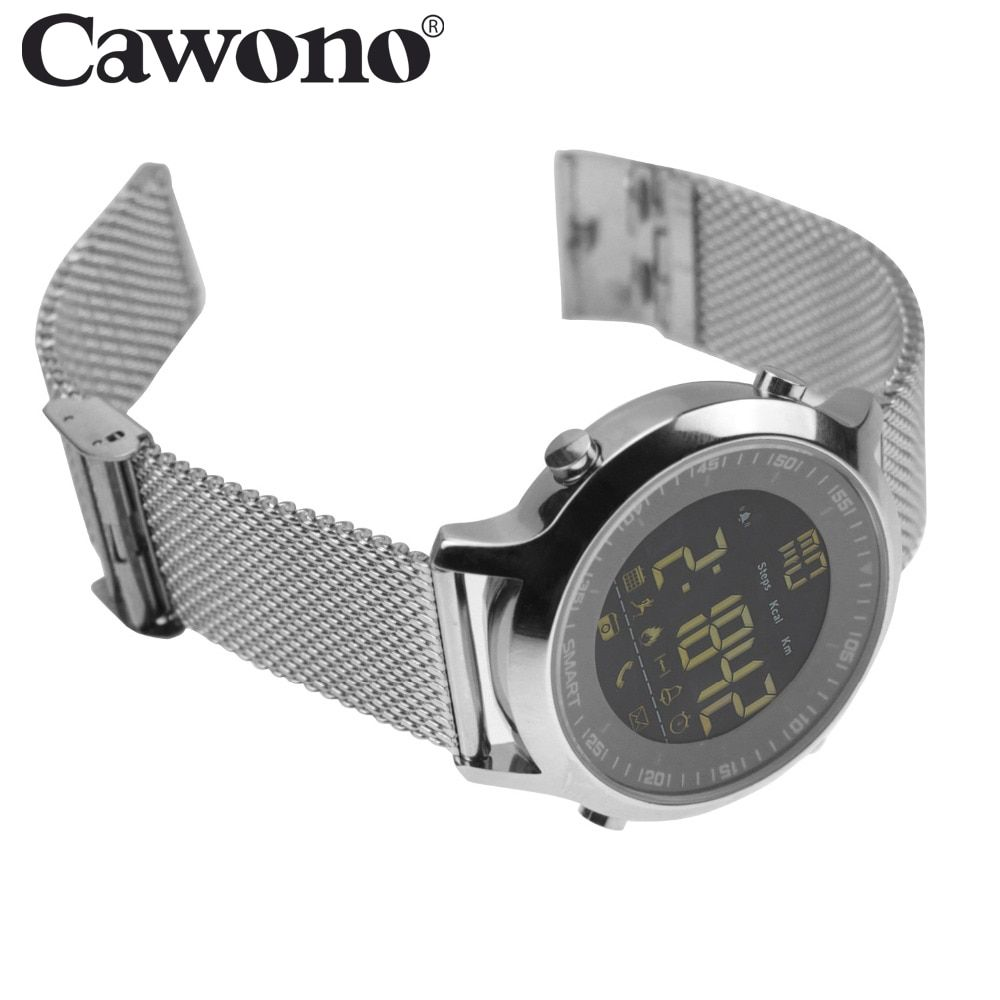 Cawono EX18 5ATM Waterproof Smart Watch <font><b>Pedometer</b></font> Tracker Call reminder Bluetooth 4.0 Wristwatch SmartWatch for IOS Android