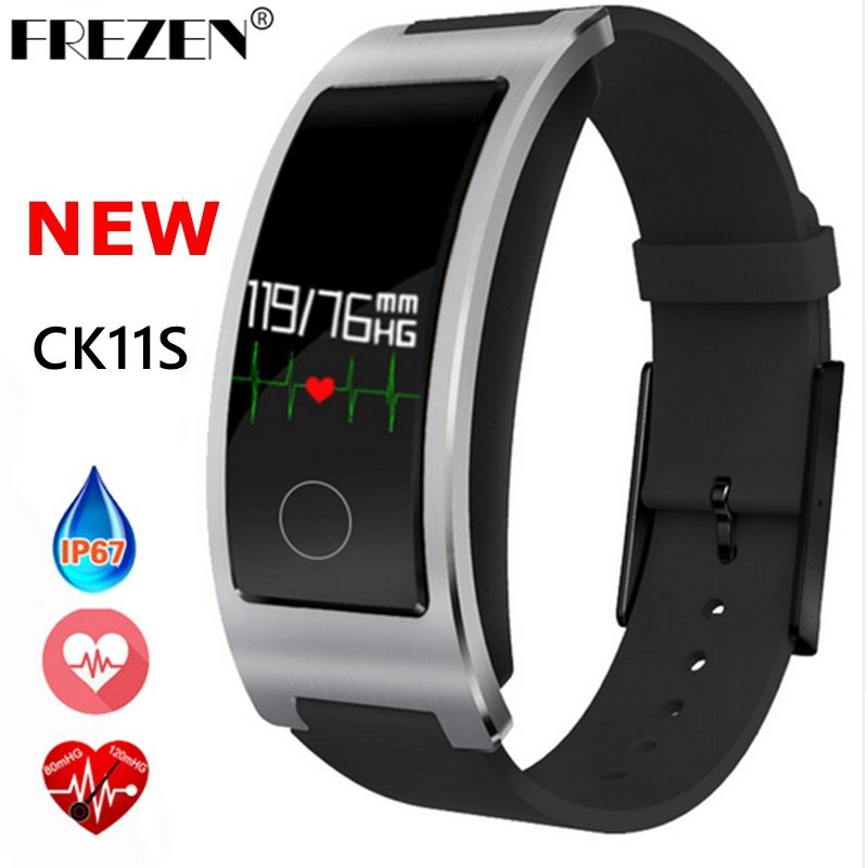 FREZEN NEW CK11S Smart Band Blood Pressure Heart Rate Monitor Wrist Watch Bracelet Fitness Bracelet Tracker Pedometer Wristband