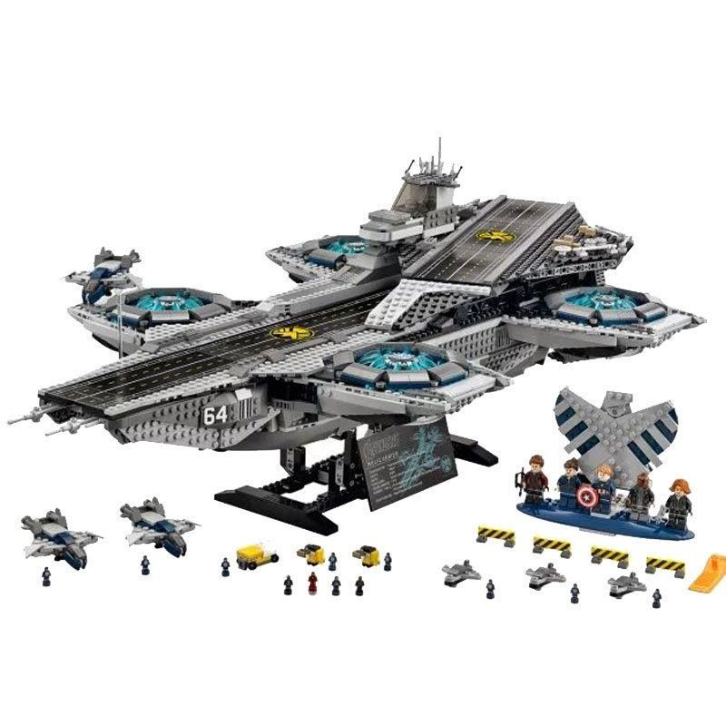 LEPIN 07043 3057Pcs Super Heroes The Shield Helicarrier Model Building Blocks Bricks Toys Kits for Children Compatible 76042