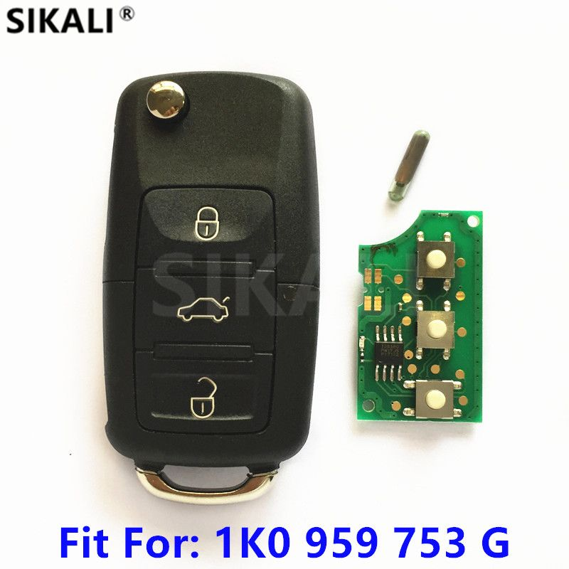 Car Remote Key for 1K0959753G 5FA009263-10 for CADDY/EOS/GOLF/JETTA/SIROCCO/TIGUAN/TOURAN 2003 2004 2005 2006 2007 2008 2009
