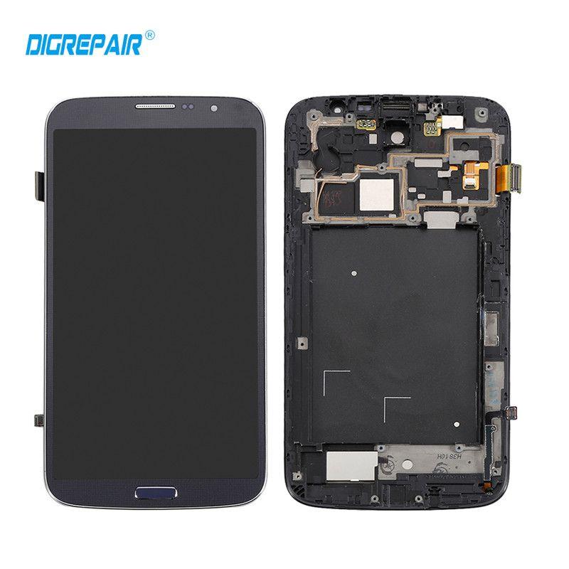 100% Test Noir Pour Samsung Galaxy Mega 6.3 i9200 i9205 LCD Affichage Écran Tactile Digitizer avec Lunette Cadre Assemblée Complet