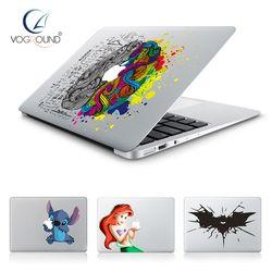 Hot Stitch Batman nieve blanco cerebro vinilo Decal laptop sticker para Apple MacBook Pro aire 13 11 15 Piel de dibujos animados cubierta para Mac libro
