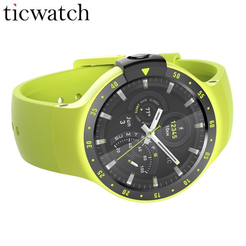 Ticwatch S Aurora Sport Smart Uhr Android Tragen 2,0 Bluetooth 4,1 WIFI GPS Herz Rate IP67 Wasser Widerstand Uhr Telefon