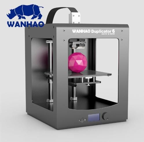 2018! WANHAO New 3D printer D6 PLUS (Duplicator 6) home use industrial with high accuracy   High precision fast printing speed