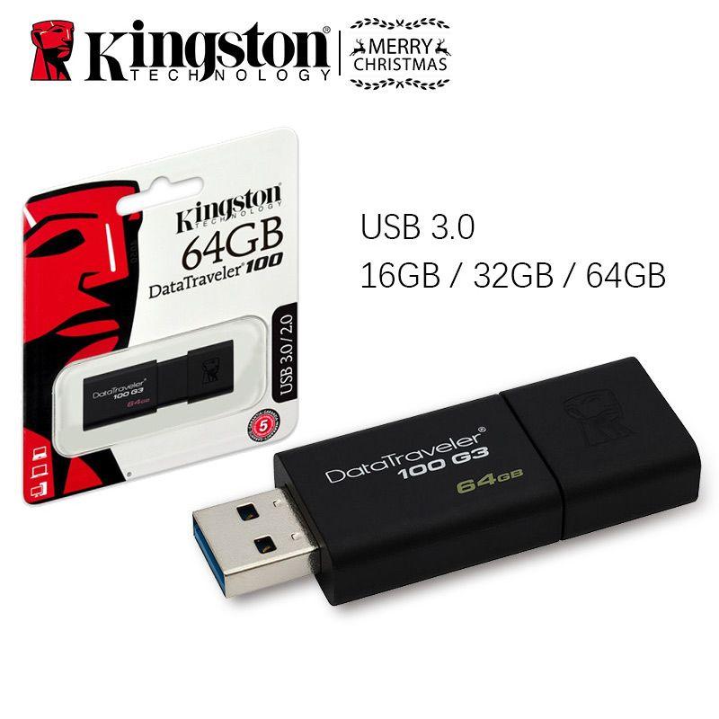 D'origine Haute Vitesse USB 3.0 Kingston DataTraveler 100 G3 Lecteur Flash 16 gb 32 gb 64 gb 16 32 64 gb Pendrive Bâton Pen Drive DT100G3