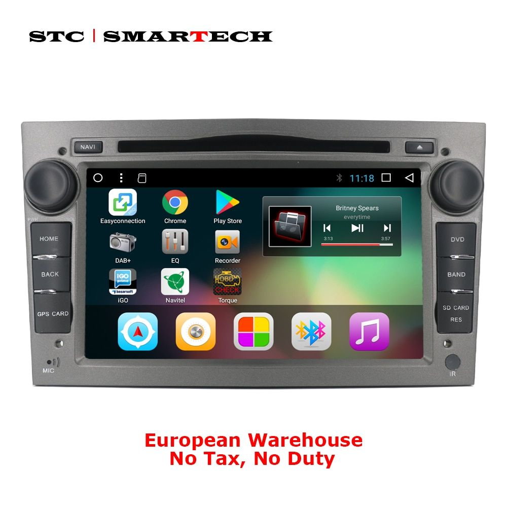 SMARTECH Android 7.1 2 Din Car DVD GPS Navigation for Opel Astra H G J Antara VECTRA ZAFIRA Vauxhall with CAN-BUS WIFI OBD DVR