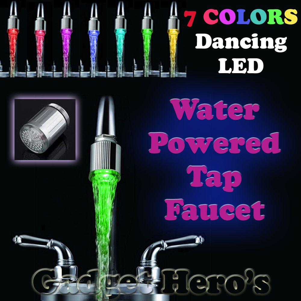 2018 Новый 7 цветов Изменение мини Кухня Ванная комната аксессуары Glow светодиодный свет потока воды torneira Cozinha кран