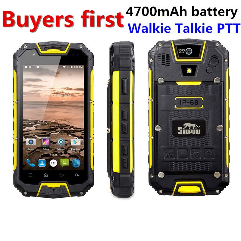 Snopow M5P IP68 Waterproof 4G LTE android 5.1 Smartphone Walkie Talkie RAM 2GB ROM 16GG NFC OTG 13.0MP 4.5