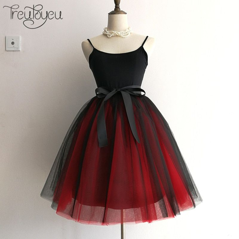 6 Layers 65cm Long Women Skirt Princess Tutu Tulle Skirts Fashion <font><b>Ball</b></font> Gown Lolita Skirt Summer Saias Femininas faldas Jupe