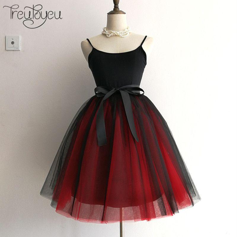 7 couches 65 cm longue femmes Jupe princesse Tutu Tulle jupes mode robe de bal Lolita Jupe d'été Saias Femininas faldas Jupe