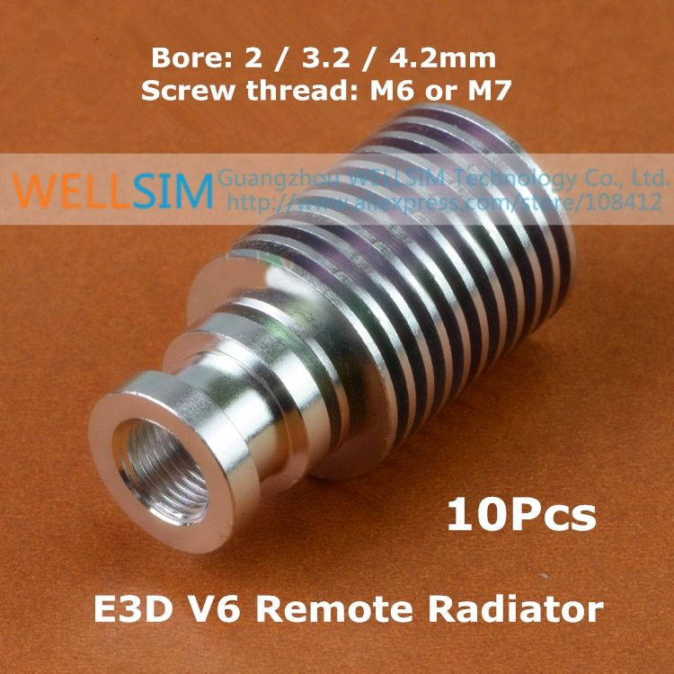 10Pcs V6 Extruder Radiator For  V6 Remote All-Metal Long Distance Heat Sink Pipe Optimized For 1.75mm 3mm Feeding For 3D