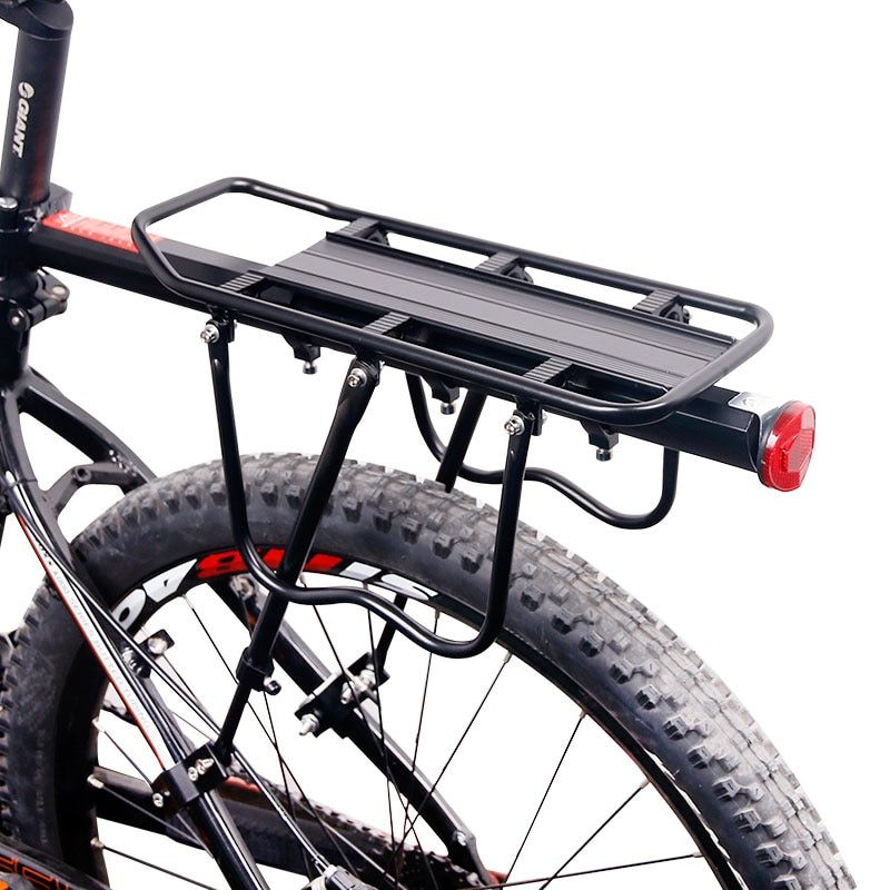 Deemount Bicycle Luggage <font><b>Carrier</b></font> Cargo Rear Rack Shelf Cycling Seatpost Bag Holder Stand for 20-29 inch bikes with Install Tools