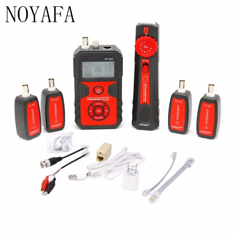 NF-858 Cable Line Locator Portable Wire Tracker Cable Tester Finder For Network Cable Testing RJ11 RJ45 BNC Cable Line